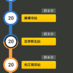 台北駅から行天宮